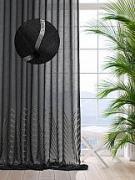 Купить тюль «Ирнин (черный) - 290 см» по цене 6610 руб. с доставкой по Москве и России - интернет-магазин «ТомДом»