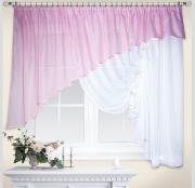 """Штора Nivasan """"Джульетта"""", правая, на ленте, цвет: розовый, высота 170 см, ширина 400 см"""