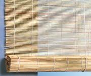 """Штора рулонная Эскар """"Бамбук"""", цвет: натуральный, ширина 120 см, высота 160 см"""