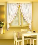 Комплект штор кухня, цвет: коричневый Б078 (170*160)*2