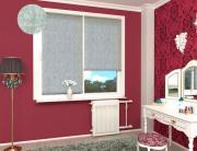 Рулонная штора Жаккард светло-серый 120см х170см