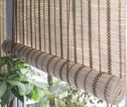 """Штора рулонная Эскар """"Бамбук"""", цвет: золотой беж, ширина 160 см, высота 160 см"""