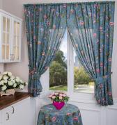 Комплект из 2-х штор кухонных Валенсия (синий) Santalino A168678