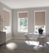 Рулонные шторы блэкаут, 100% светонепроницаемые, однотонные, мокко, 140 x 170 см
