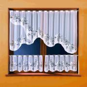 Комплект штор кухня, цвет: белый 3283