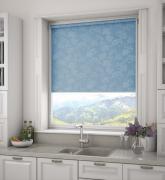 Рулонные шторы Премьер, голубые, 140 x 170 см