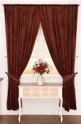 Комплект из 2-х штор Роскошь (коричневый) Santalino A298987