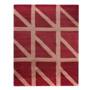 Ковер шерстяной ручной работы Geometric dance бордового цвета, 200х280 см