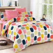 Постельное белье Amore Mio Комплект постельного белья Поплин,разноцветный, Евро с резинкой