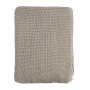 Плед Tkano жемчужной вязки серого цвета essential, 180х220 см