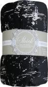Плед TexRepublic Shik, цвет: черный, 200 х 220 см