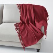 Плед La Redoute С бахромой NEDO 230 x 250 см красный