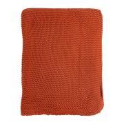 Плед Tkano жемчужной вязки терракотового цвета essential, 180х220 см