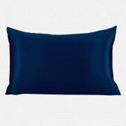 Наволочка шёлковая 100% шёлк атлас, 70х50, королевский синий, на молнии