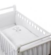 Постельное белье Geuther Комплект белья для кроватки-люльки Elephant, белый