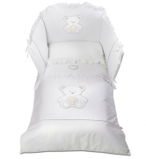 Постельное белье Italbaby Комплект белья из 5-и предметов Peluche, белый