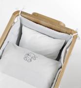 Постельное белье Geuther Комплект белья для кроватки-люльки Rabbit, белый