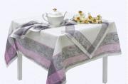 """Комплект столовый """"Ажурный"""" цв. серый с розовым 150*150см"""
