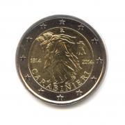 2 евро 2014 — 200 лет со дня основания Карабинеров — Италия