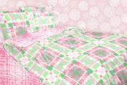 5567/1 Geometry pink детское постельное белье из ранфорса 1.5-спальное