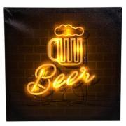 Картина на холсте с LED-подсветкой «Beer», 40х40 см