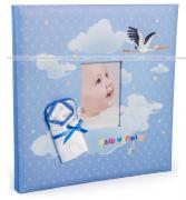 Детский фотоальбом-книга с магнитными листами, 40 страниц 26х32, скрапбук, альбом для фотографий и записей, наш малыш, аист GF 4048