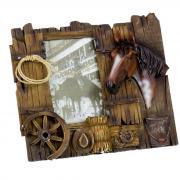Фоторамка керамическая «Лошадь в конюшне» 10х15 см