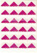 Уголки для крепления фотографий до 15x21 и оформления фотоальбомов, памятных книг, 24 шт., сечение 1,5 см, конфетти, розовые GF 4798