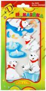 Декоративные наклейки для украшения альбомов и рамок для фотографий, фотоальбомов, скрапбукинга, 3d животные, белый медведь GF 2285