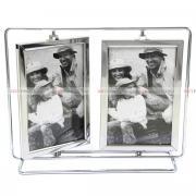 Фоторамка металлическая, рамка для 4 фотографий 10х15, мультирамка, вертушки GF 4532