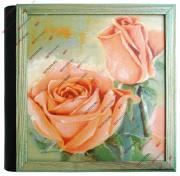 Кожаный фотоальбом ручной работы с бумажными листами, 120 страниц 35х35 см, murales rosa, с кейсом GF 1683