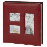 Фотоальбом brauberg на 20 магнитных листов, 23x28 см, обложка под кожу страуса, на кольцах, 390692