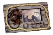 Фоторамка керамическая «Лошади и подковы» 10х15 см