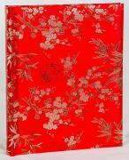 """Фотоальбом """"Цветы"""" обложка шёлковая ткань, 50 магнитных страниц 26х32 см"""