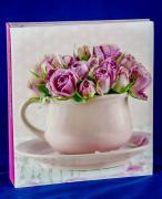 """Фотоальбом """"Букет роз в чаше"""" на 100 магнитных страниц, 23х28 см"""