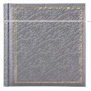 Фотоальбом, альбом с магнитными листами, 100 страниц (50 листов) 24,5х31, песок, серый, серебристый, металлик GF 4630