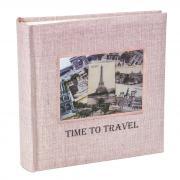 Фотоальбом «Время путешествовать», 100 фото 15х21 см, кармашки, розовый