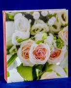 """Фотоальбом """"Розы белые и красные"""" на 100 магнитных страниц, 23х28 см"""
