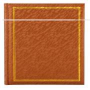 Фотоальбом, альбом с магнитными листами, 100 страниц (50 листов) 24,5х31, песок, светло-коричневый, рыжий GF 4629