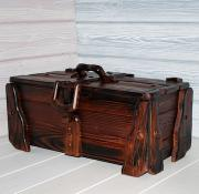 Декоративный деревянный сундук 50х25х25