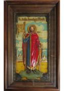 Икона святого Александра Невского под стеклом 30 х 48 см (керамика)