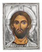 Икона Спаситель (венчальная пара), посеребрённый оклад.