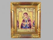 Икона на фарфоре в деревянной раме СЕМИСТРЕЛЬНИЦА от Leander, 25х18.5 см