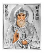 Икона Святой Илья Муромец, посеребрённый оклад