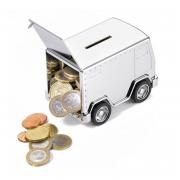 TROIKA Копилка «Safe money» металл хром