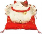 """Японский кот-копилка Манеки-неко """"Много денег, удачи и посетителей!"""""""