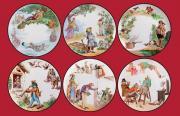 Набор декоративных тарелок ПЕРЕВЕРНУТЫЙ МИР от Au Bain Marie, 6 шт.