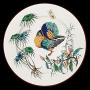 """Тарелка """"Птицы"""" декоративная, Индейка, жесть, эмаль AU BAIN MARIE ABM-AT-V06"""