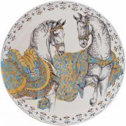 Большая настенная тарелка ЛОШАДИ СОЛНЦА от Gien, диаметр 61.5 см