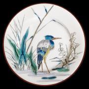 "Тарелка ""Птицы"" декоративная жесть, эмаль AU BAIN MARIE ABM-AT-V01"